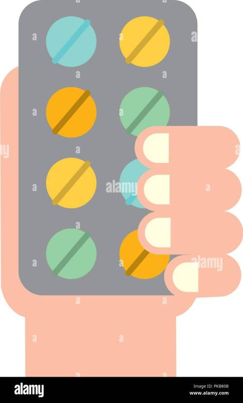 small resolution of hand holding pills blister medicine