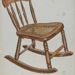 Small Rocking Chairs Desk Chair Mat 36 X 48 Child S Dated 1937 Dimensions Overall 34 9 26 5 Cm 13 3 4 10 7 16 In Original Iad Object 28 Tall Wide