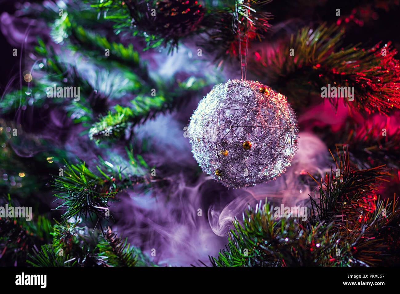 Purple Silver Christmas Decorations