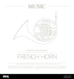 musical instruments graphic template french horn vector illustration [ 1300 x 1390 Pixel ]