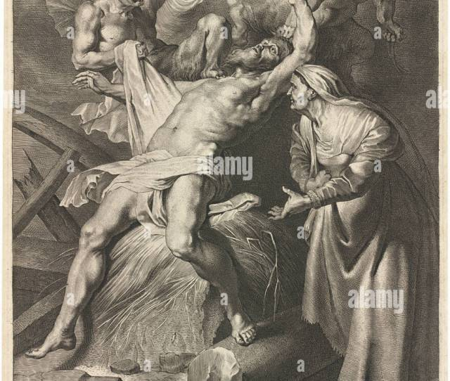 Job Tormented By Demons And Abused By His Wife Dimensions Sheet   Cm  X  In Medium Engraving On Laid Paper
