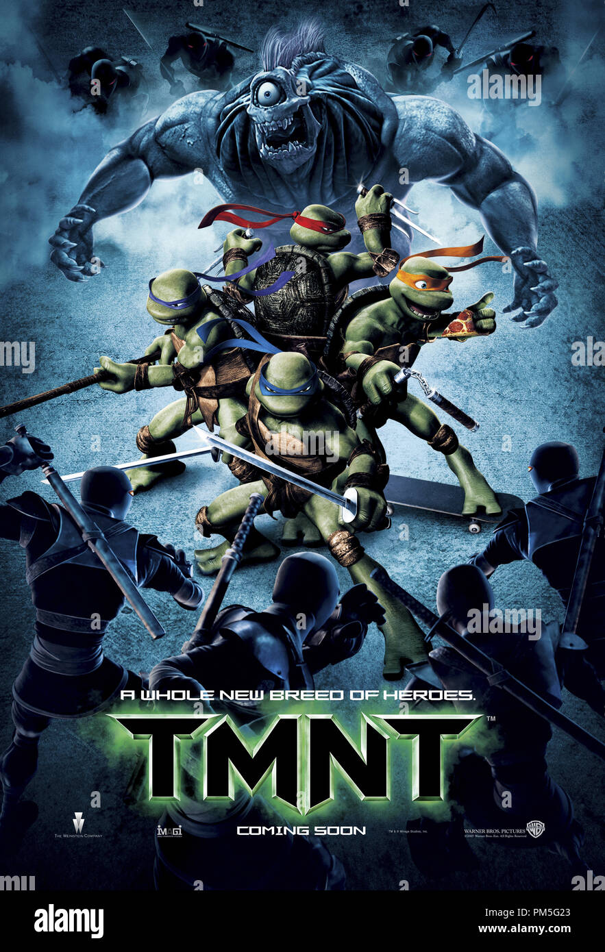 https www alamy com tmnt teenage mutant ninja turtles poster 2007 warner file reference 307381829tha for editorial use only all rights reserved image218939899 html