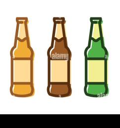 set of a beer bottle icon set stock image [ 1300 x 830 Pixel ]