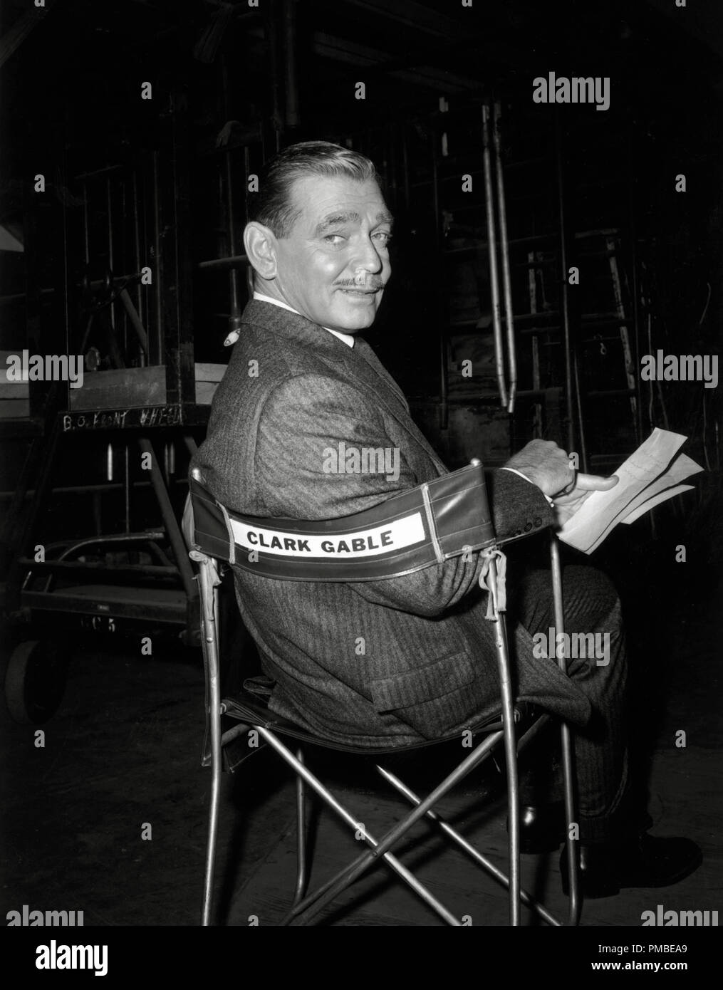 Personalized Directors Chair Clark Gable On A Movie Set Sits In A Personalized Director S