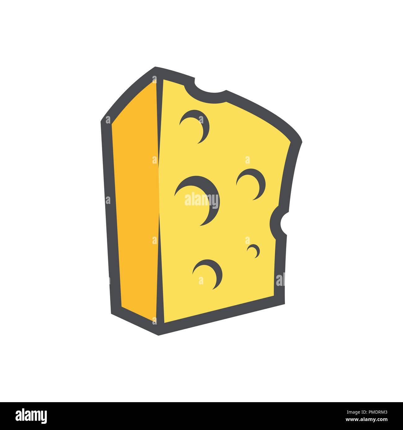 hight resolution of block of cheese vector clipart for icon or logotype of organic dairy production