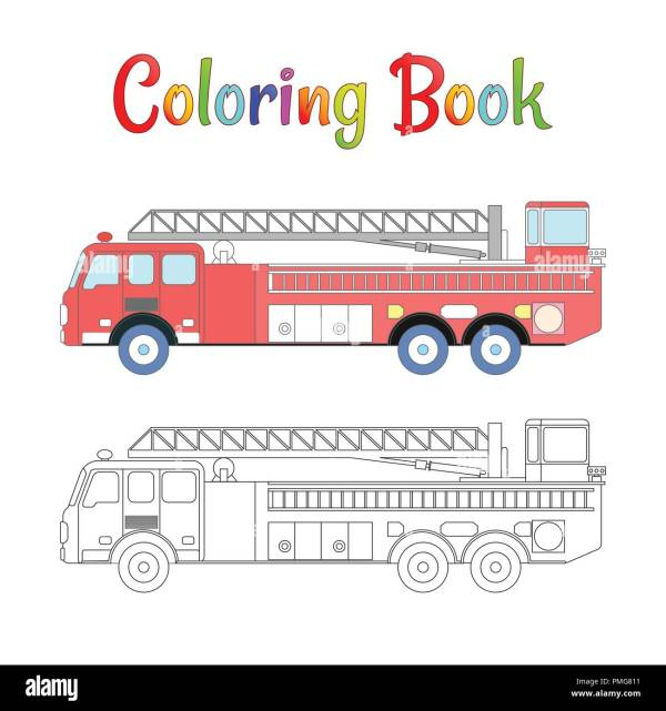 firetruck coloring pages # 86