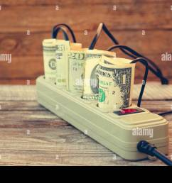 socket and money concept of energy savings toned image stock image [ 1300 x 956 Pixel ]