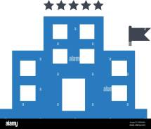 Five-star Hotel Icon Vector Blue Stock Art