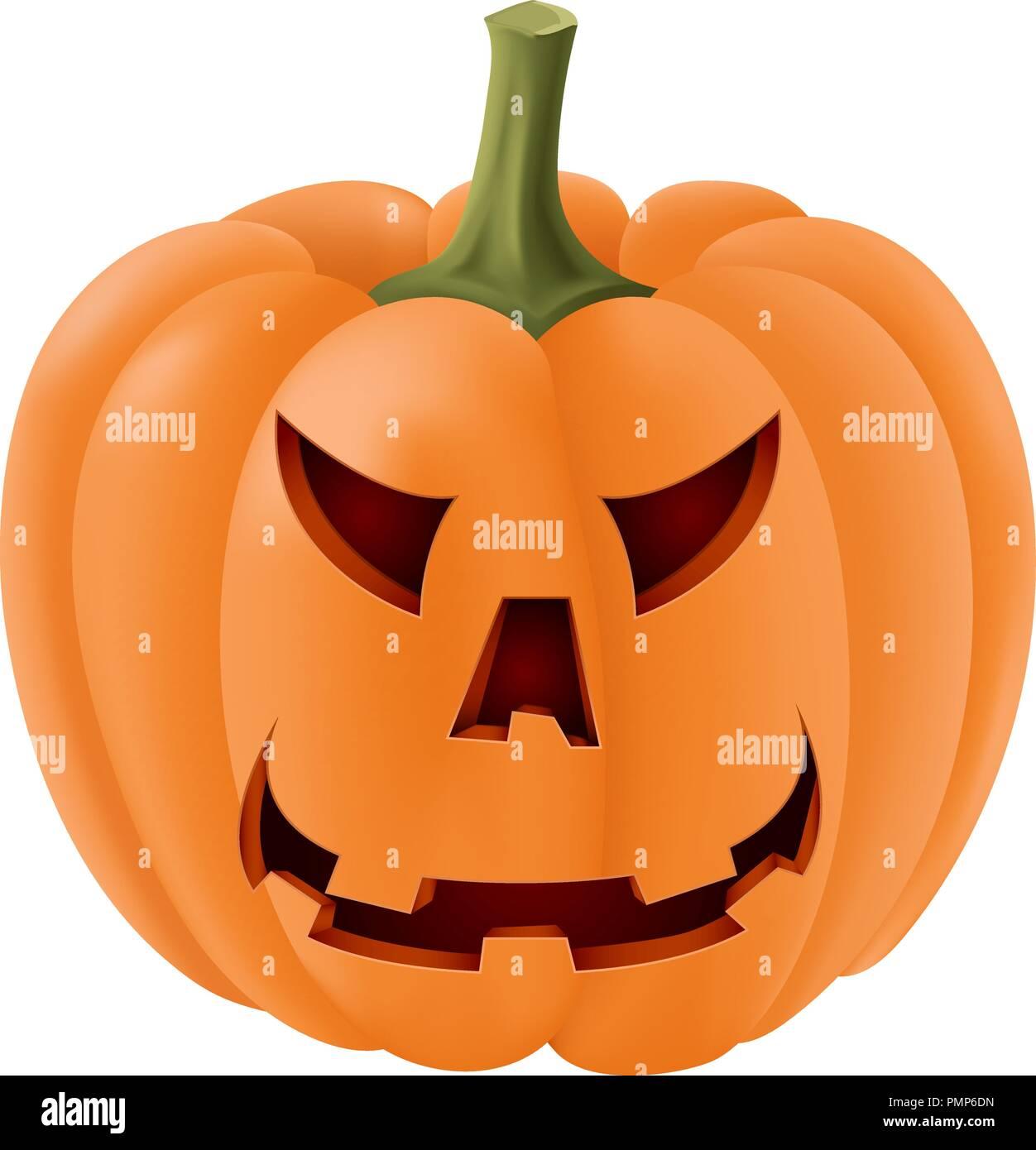 halloween pumpkin with angry