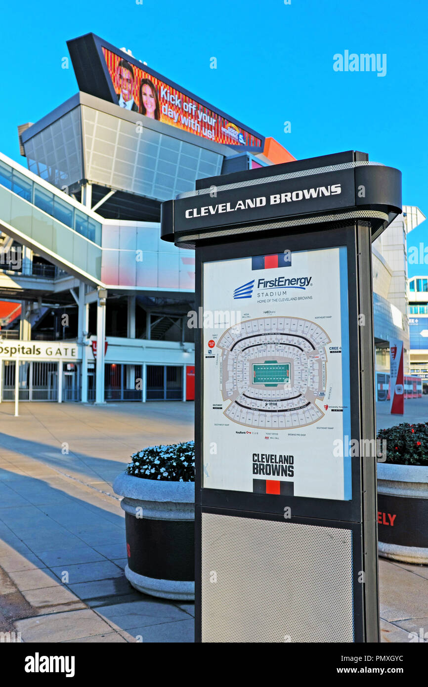 Seating Chart Firstenergy Stadium : seating, chart, firstenergy, stadium, FirstEnergy, Stadium, Seating, Chart, Outside, Cleveland, Browns, Kiosk, Front, Sports, Venue, Cleveland,, Ohio,, Stock, Photo, Alamy