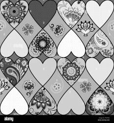 Quilt Pattern Black and White Stock Photos & Images Alamy