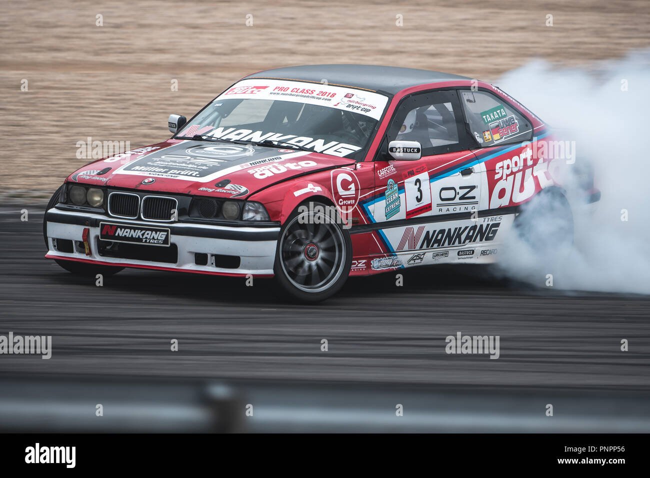 hight resolution of 22 september 2018 rhineland palatinate nuerburg motorsport nuerburgring drift cup uwe sener in action with his bmw e36 m3 during the drift cup