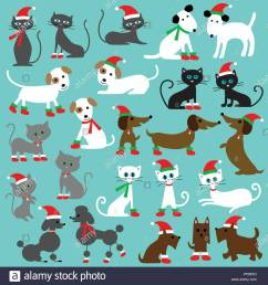 christmas cats and dogs clipart graphics  [ 1300 x 1390 Pixel ]