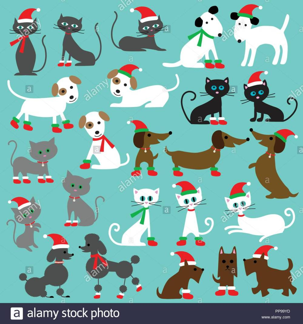 medium resolution of christmas cats and dogs clipart graphics