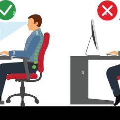 Posture Chair Demo Klaussner Rocking Ergonomic Keyboard Stock Photos And