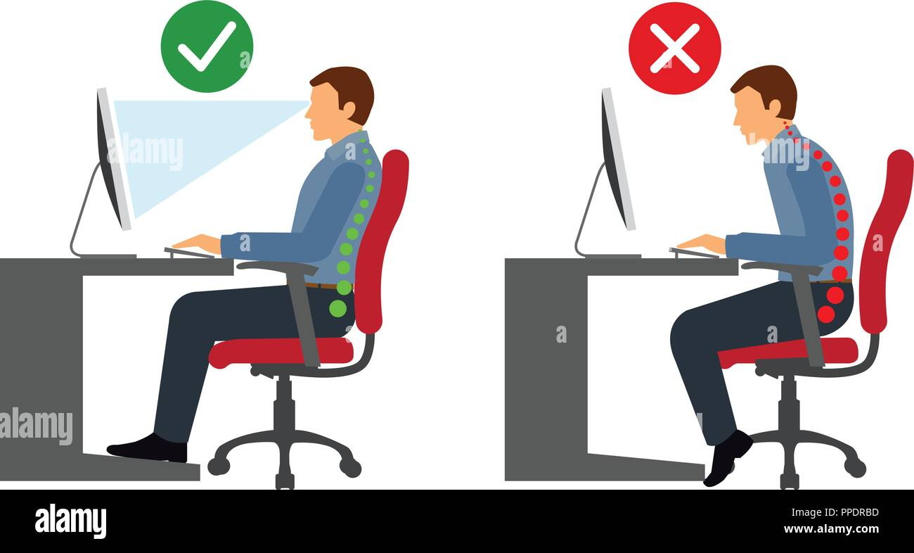 posture chair demo design your own ergonomic keyboard stock photos and