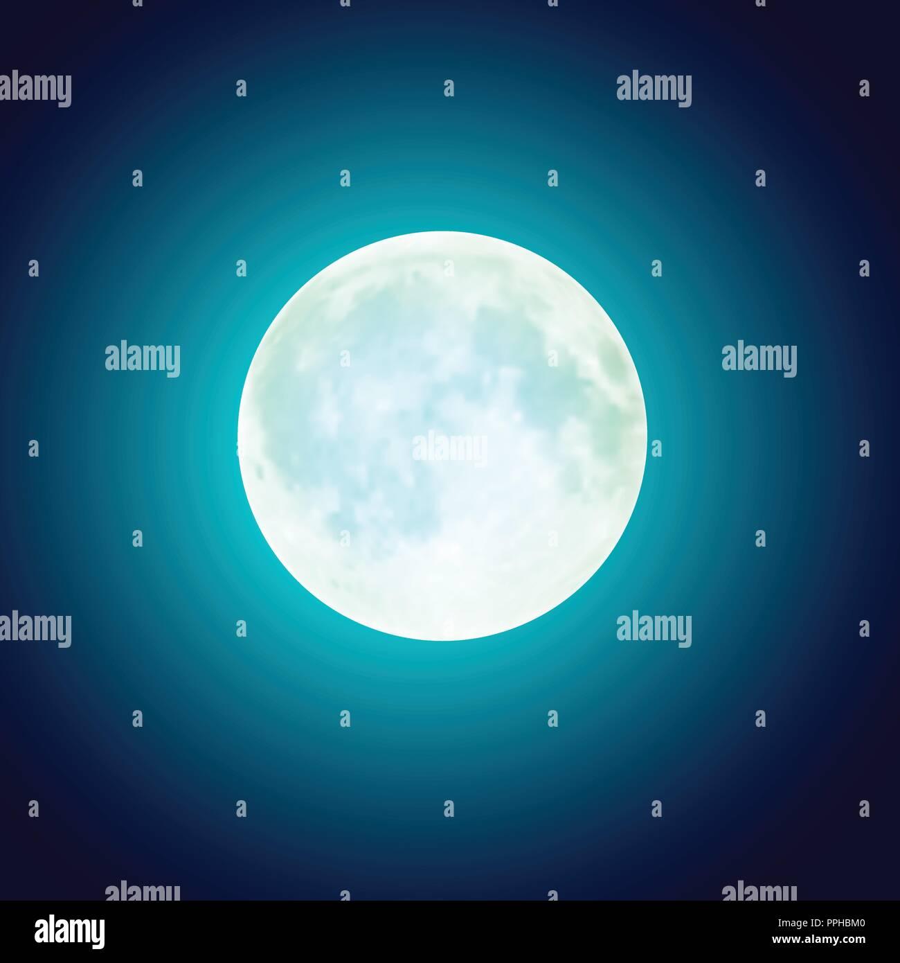 vector full moon over