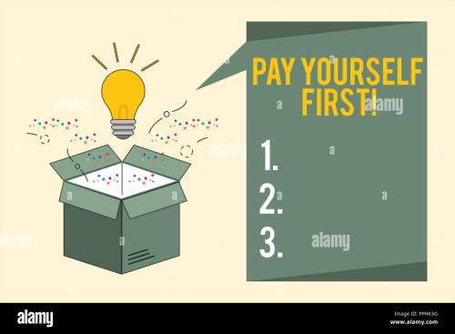 small resolution of word writing text pay yourself first business concept for saving for future setting aside a portion of your income