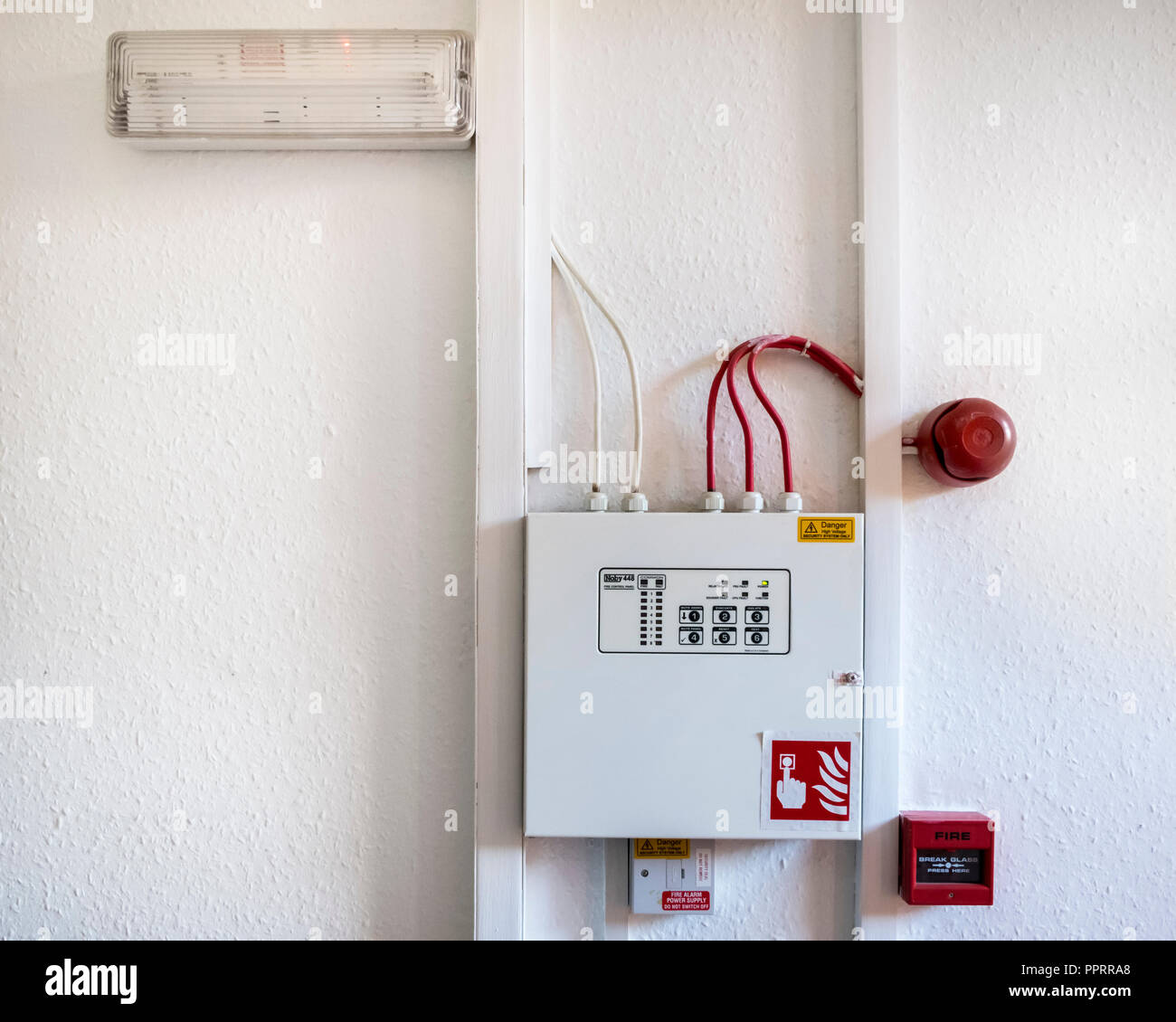 hight resolution of fire alarm system with fire bell and safety light with a noby 448 fire control panel