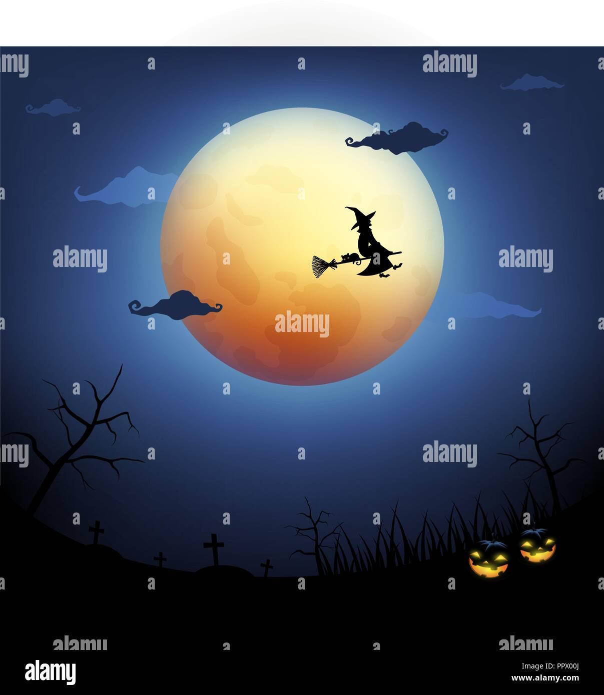 big moon in halloween