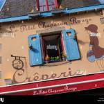 Concarneau Charming Creperie Restaurant Exterior With Rustic Blue Window Shutters Le Petit Chaperon Rouge Concarneau Brittany Finistere France Stock Photo Alamy