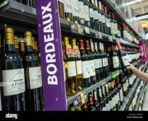 Supermarket Wine Display Stock &