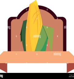 corn cob cereal grain classic label vector illustration stock image [ 1300 x 1151 Pixel ]