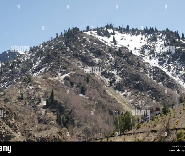 Medeo Mountain Almaty Spring In Kazakhstan Snowboard Ski