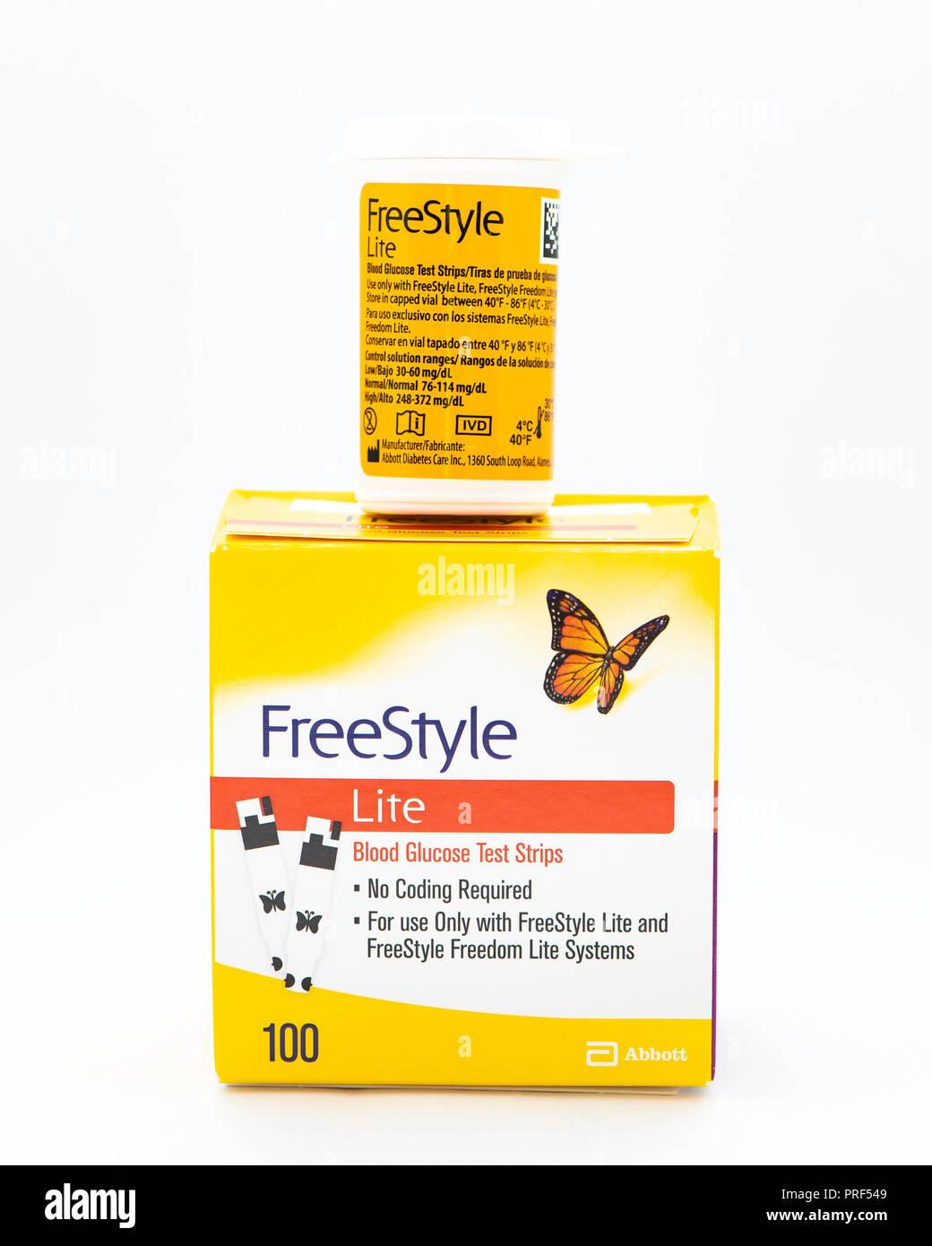 Freestyle Lite Test Strips Walgreens : freestyle, strips, walgreens, FreeStyle, Blood, Glucose, Strips, Stock, Photo, Alamy