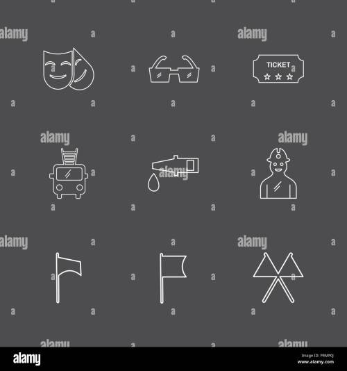 small resolution of mask glasses ticket fire truck pipe labour seo technology internet flags computer icon vector design flat collection style