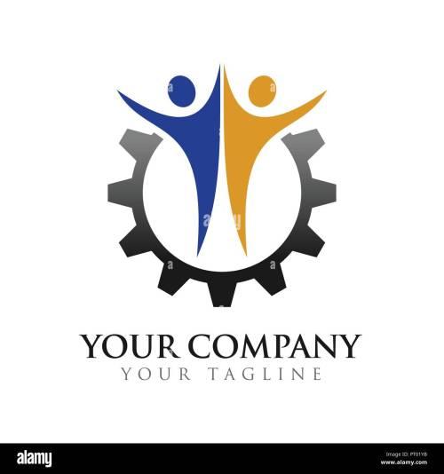 small resolution of civil partner engineering company vector symbol graphic logo design template