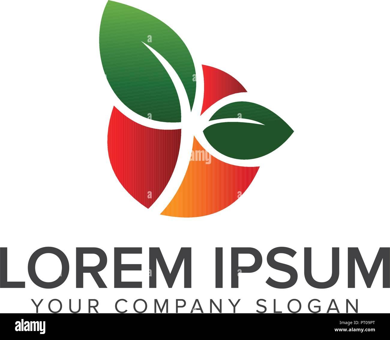 fruit logo design concept