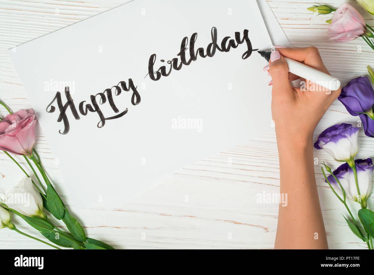 happy birthday congratulations calligrapher