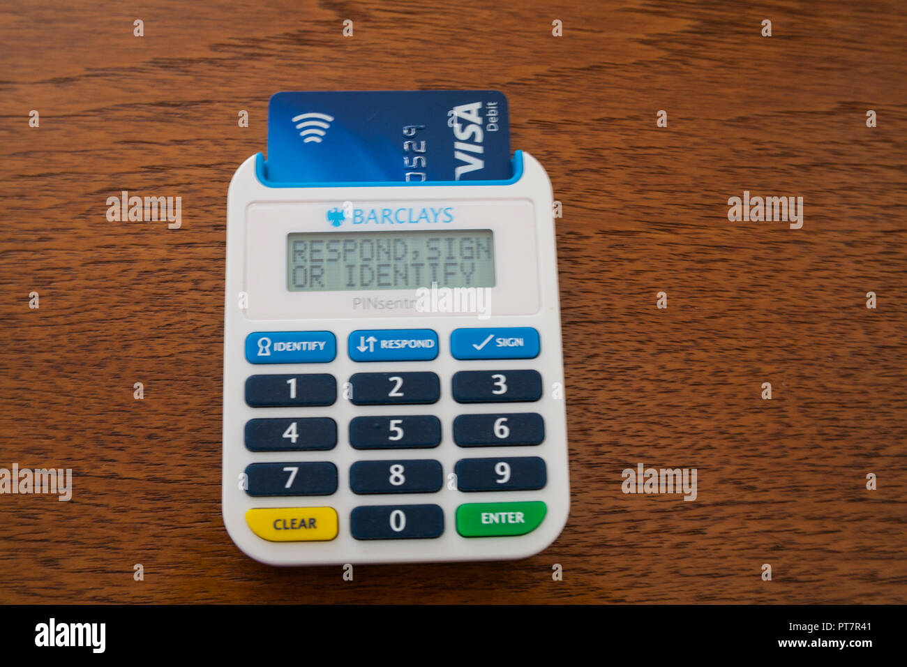 Pinsentry Card Reader For Access To Barclays Online Banking Features With Extra Layer Of Security Debit Card Inserted To Access Current Account Stock Photo Alamy