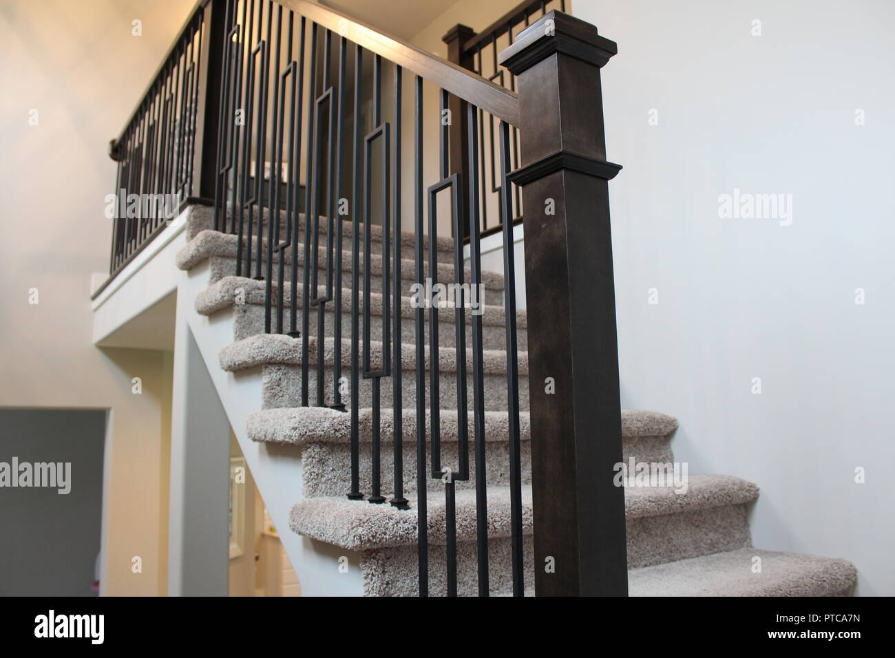 Stair Carpet High Resolution Stock Photography And Images Alamy   Black And White Carpet Stairs   Victorian   Striped   Geometric   Low Cost Simple   Unusual