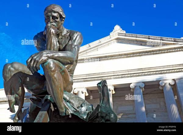 Thinker Statue Of Rodin Stock & - Alamy