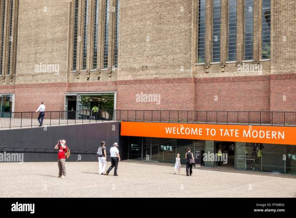 Tate Modern Contemporary Art Museum Stock &