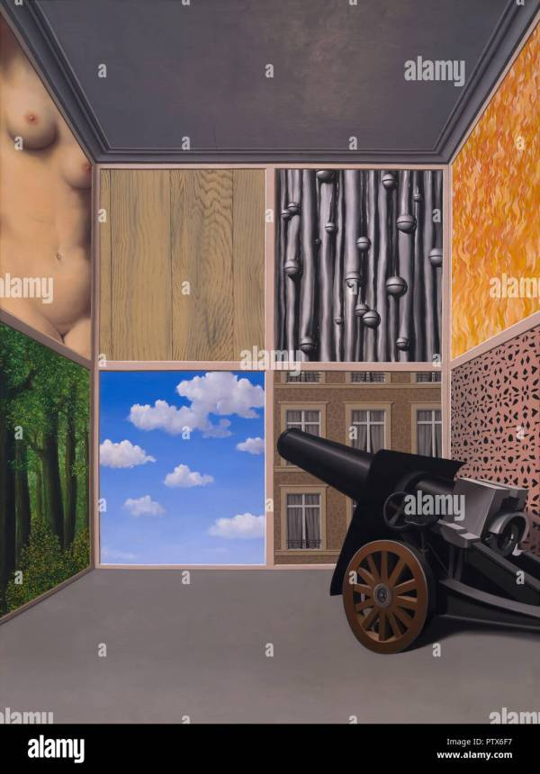 Rene Magritte Painting Stock &