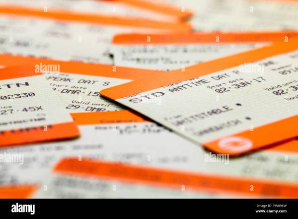 Standard Train Tickets - Year of Clean Water