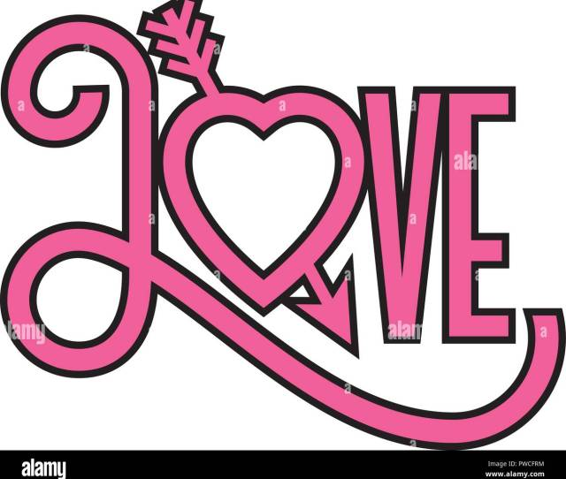 Love Heart D Illustration With Arrow Through Heart Ornate Hand Drawn Vector Illustration Of
