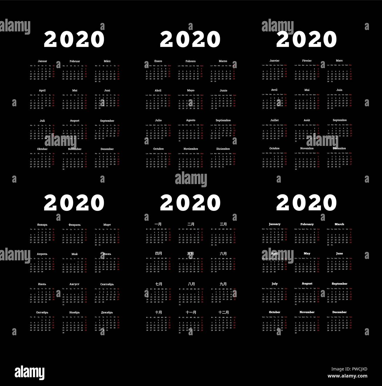set of 2020 year