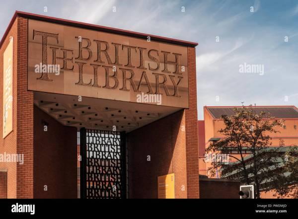 Entrance British Library Stock & - Alamy