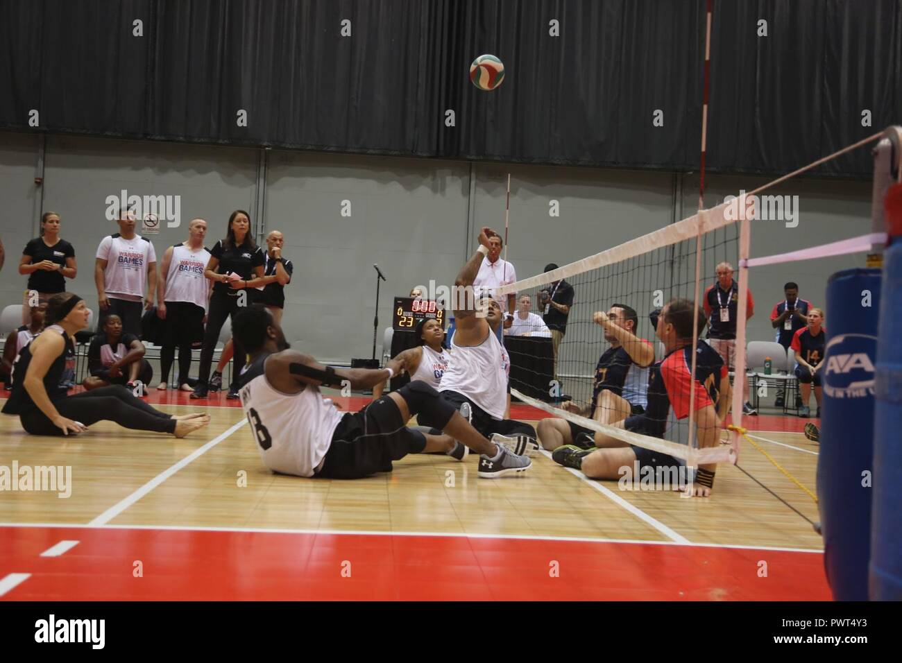 wheelchair volleyball poang chairs u s army sitting team plays against the austrailian defence force during 2017 department of defense warrior games at