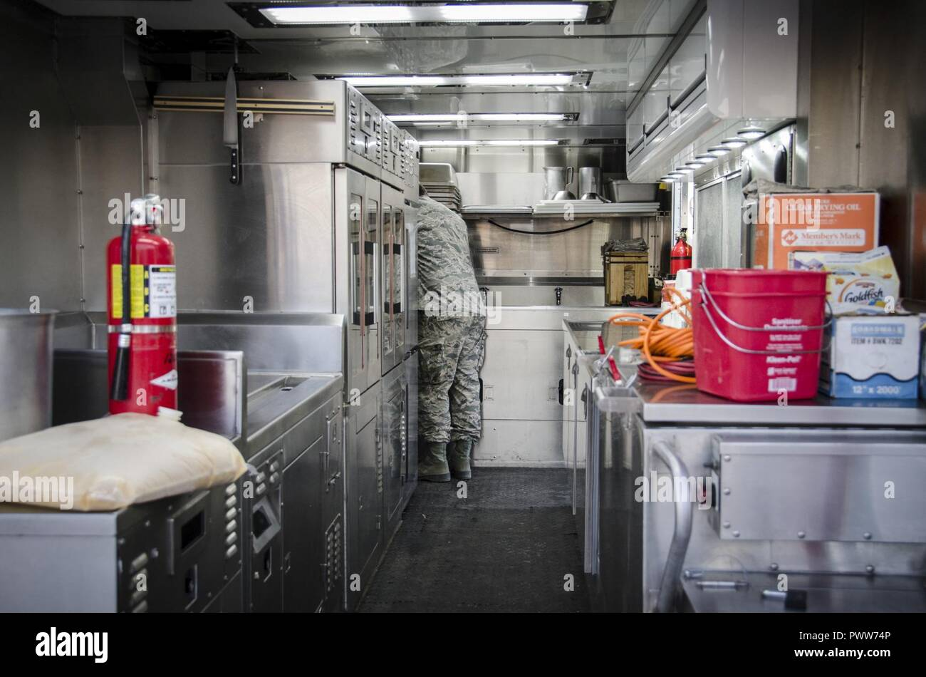 traveling kitchen cabinet painters an airman prepares breakfast inside of the disaster relief mobile trailer june 22 2017 at crow innovative readiness training construction site drmkt is a that allows services
