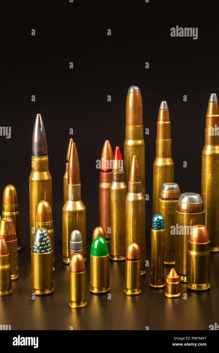Different Bullet Sizes : different, bullet, sizes, Different, Types, Ammunition, Bullets, Resolution, Stock, Photography, Images, Alamy