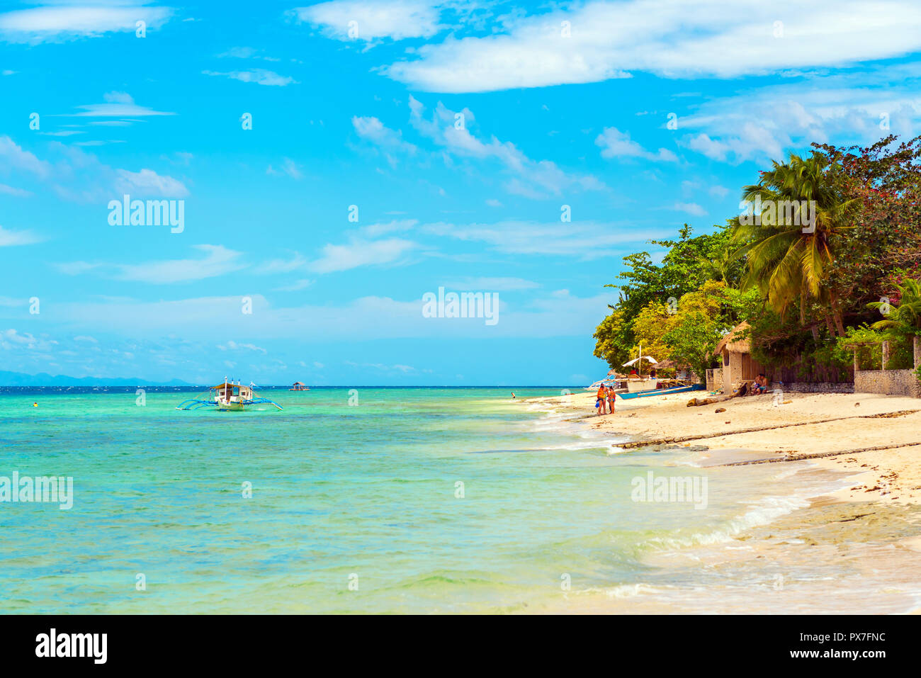 View Of The Sandy Beach In Moalboal Cebu Philippines Copy