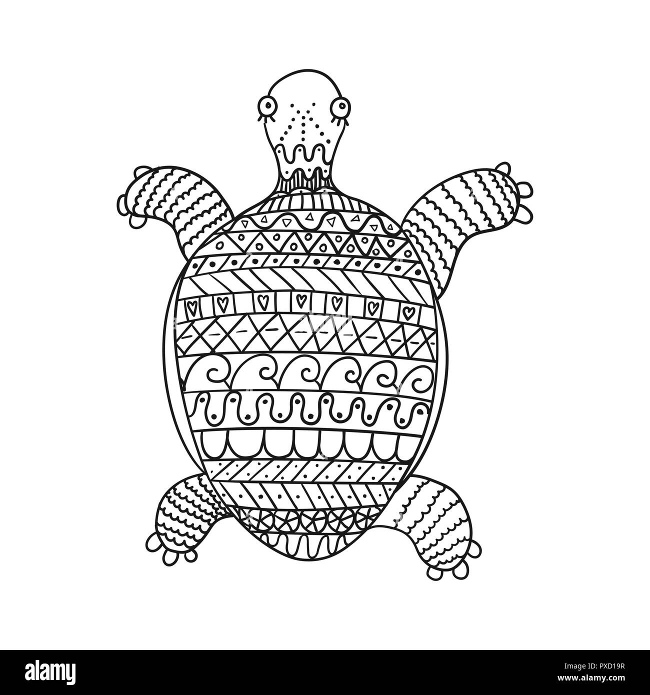 Turtle Cartoon Black And White Stock Photos Amp Images