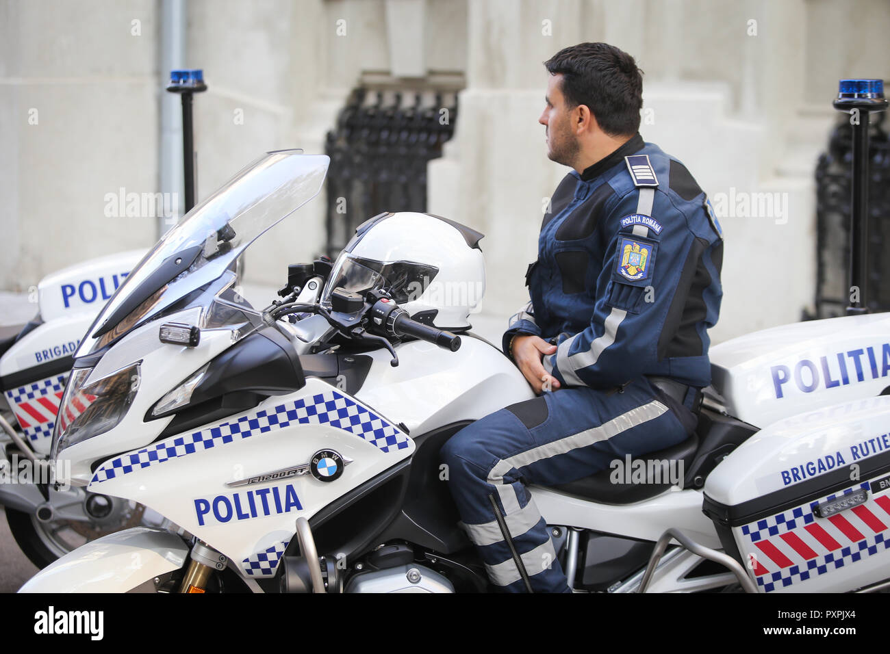 hight resolution of bucharest romania october 23 2018 bmw police motorcycles for the romanian police