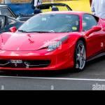 Red Ferrari 458 Italia Super Car Stock Photo Alamy
