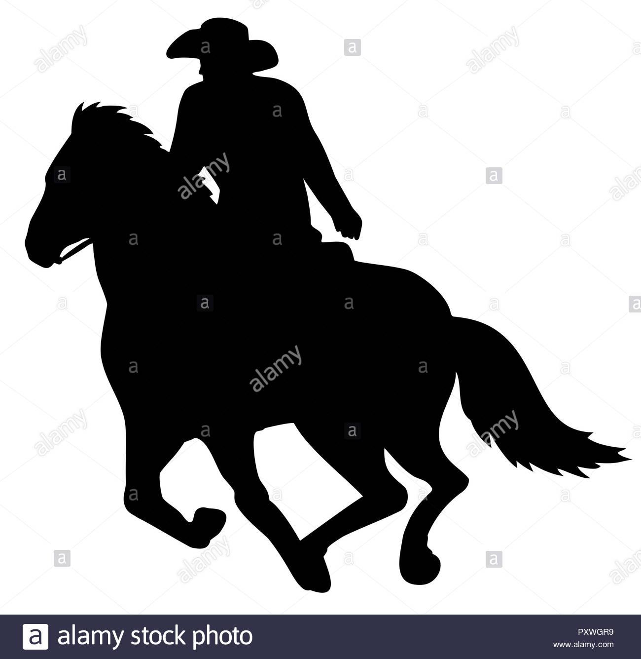 cowboy western riding gallop